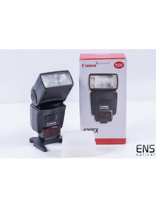 Canon Speedlite 420EX Dedicated Flashgun with Diffuser - Boxed AR
