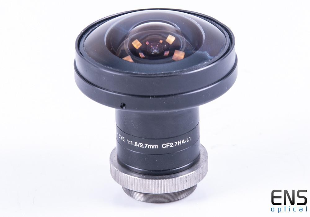 Fujinon 2.7mm f/1.8 Fisheye lens C Mount CF2.7HA-L1 - Ideal for All Sky Camera