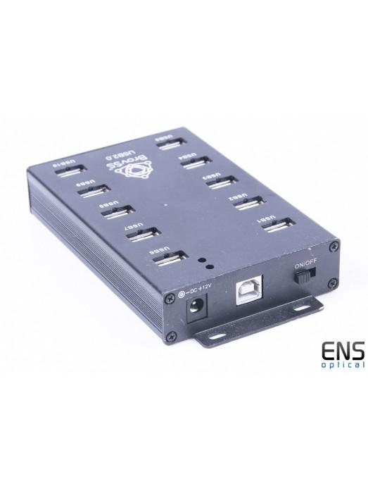 Brovss USB 2.0 10 Port Powered USB HUB