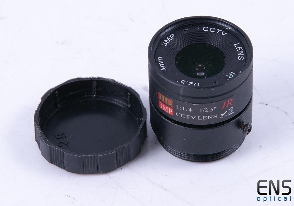 "4mm Fixed CCTV Lens HD 3MP IR 1/2.5"""