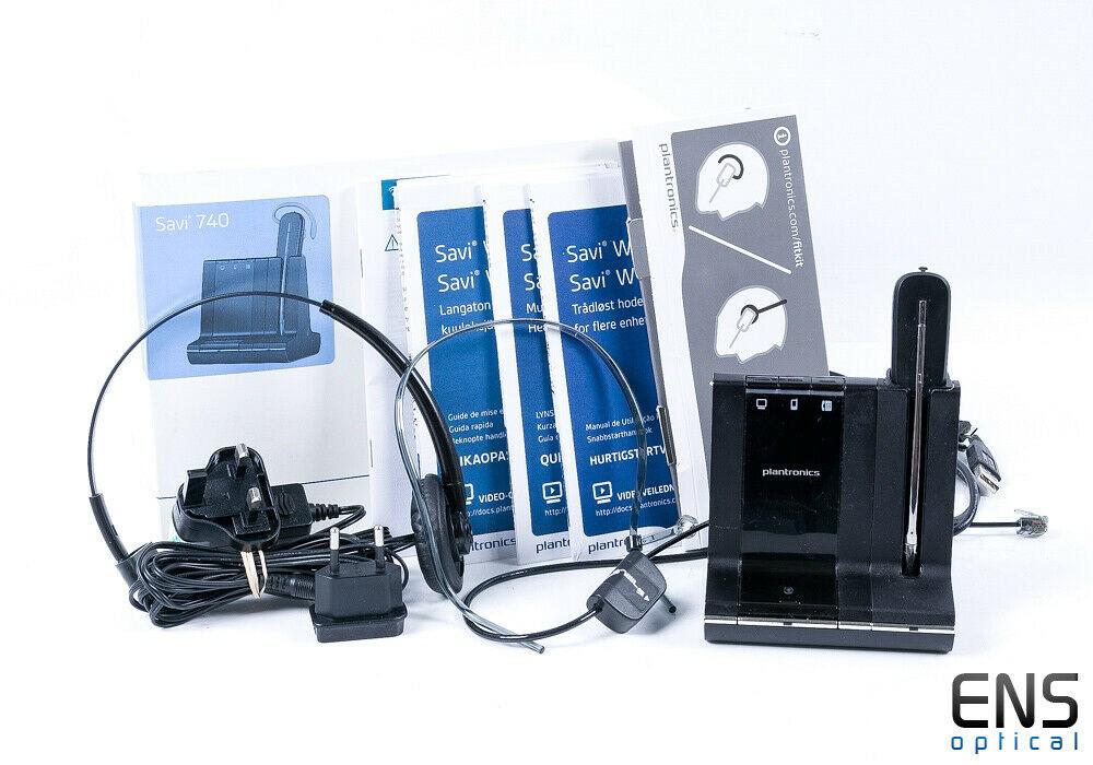 Plantronics Savi 740 Office Wireless Headset 3 in 1 W740