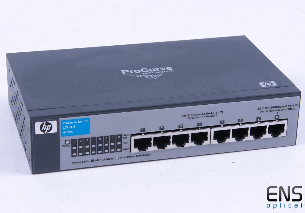 HP ProCurve 1700-8 10/100/1000Mbps Network Switch