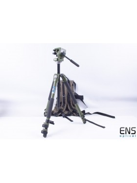 Manfrotto 128RCNAT Heavy Duty Tripod & Head Green Birding rucksack holder