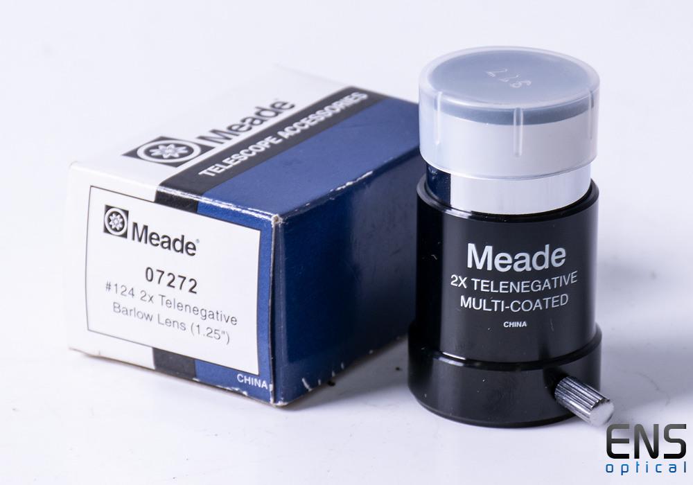 "Meade #124 2x 1.25"" Telenegative Barlow lens"
