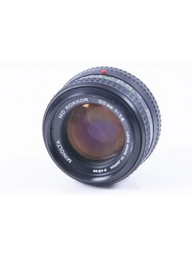 Minolta 50m f/1.4 MD Fast Prime Lens - 4200684 JAPAN