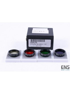 """Orion 1.25"""" Advanced Color Filter Set - #05570 JAPANESE"""