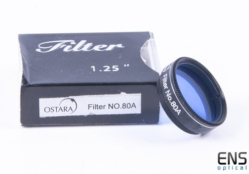 Ostara 80A Blue Telescope Eyepiece Filter - 1.25""