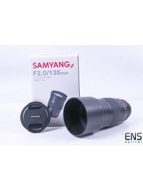 Samyang 135mm F/2 ED UMC Lens Nikon