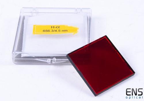 Custom Scientific HA  4.5 nm Filter - 50mm Square Unmounted AR