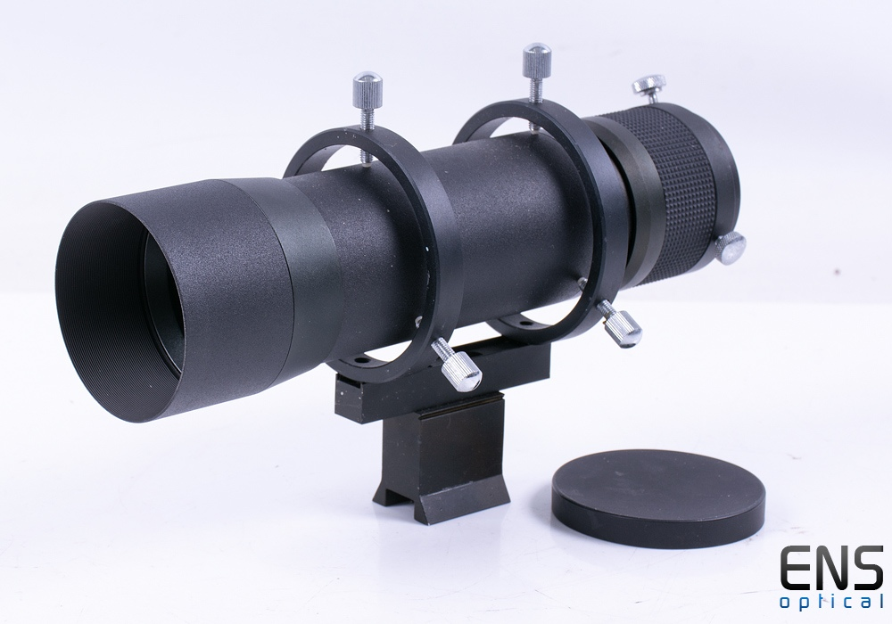 """TS Optics 60mm Finderscope with 2"""" Helical Focuser and 1.25"""" Adapter"""