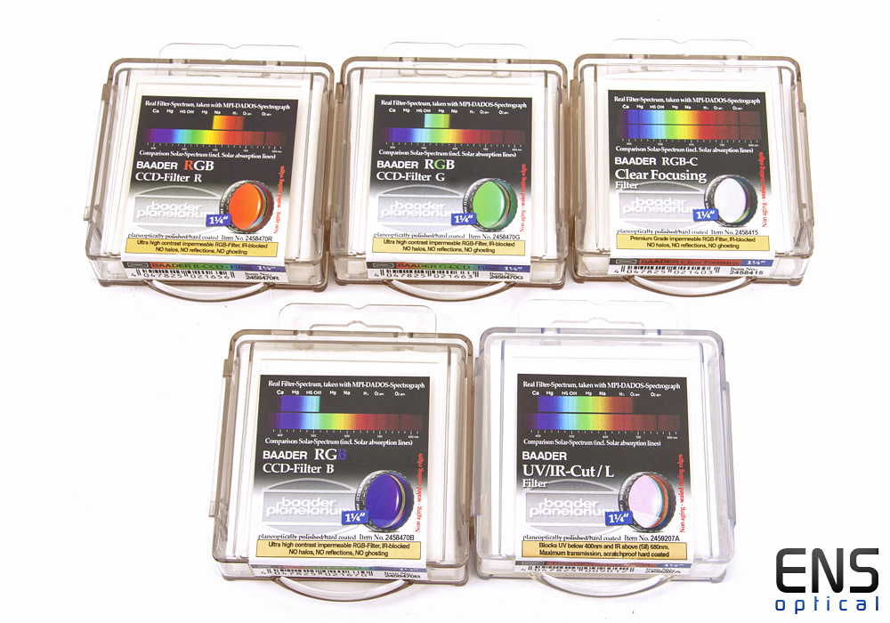 """Baader 1.25"""" CLRGB Colour CCD Imaging Filter Set New Sealed - £242 RRP"""