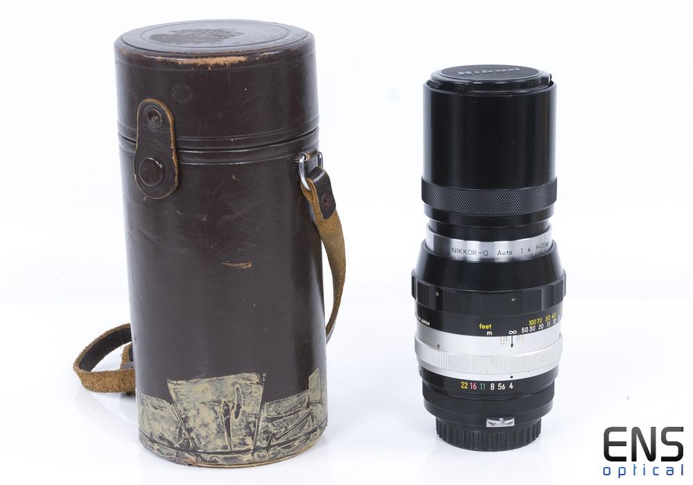 Nikon 200mm F4 Pre AI Nikkor Q Auto Scalloped Fast Prime Lens 205104