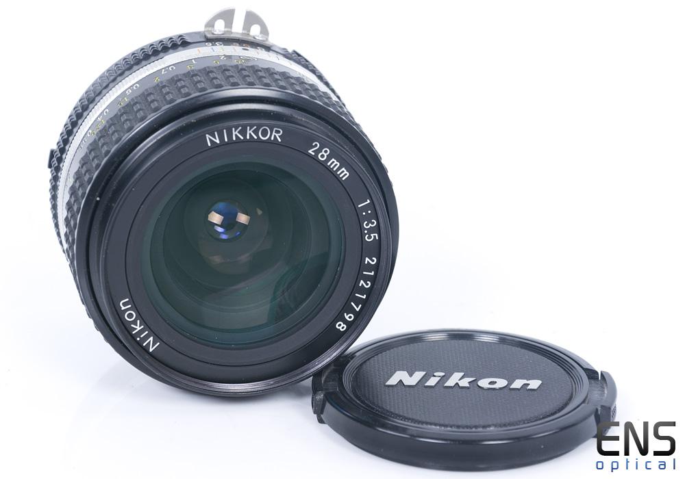 Nikon 28mm F3.5 AI-S Wide Angle prime Nikkor Manual Lens - 2121798