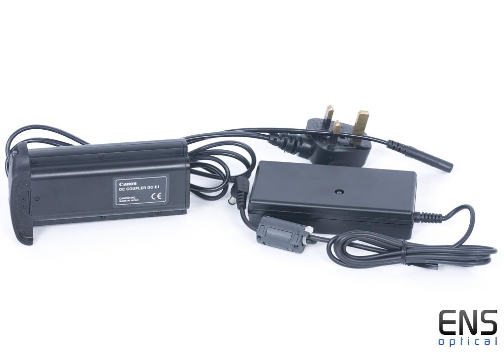 Original Canon DC Coupler DC-E1 + AC Adapter Kit EOS 1Ds 1D N MK II