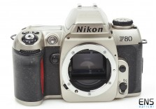 Nikon F80 SLR camera body Silver 35mm film lightweight body 2076373 **For PARTS*