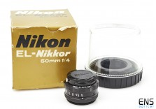 Nikon 50mm f4 EL-Nikkor Enlarger lens Boxed - Mint 278286