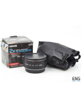 Bower 2x Digital Autofocus teleconvereter for Canon EF Multi Coated 7 SX7DG