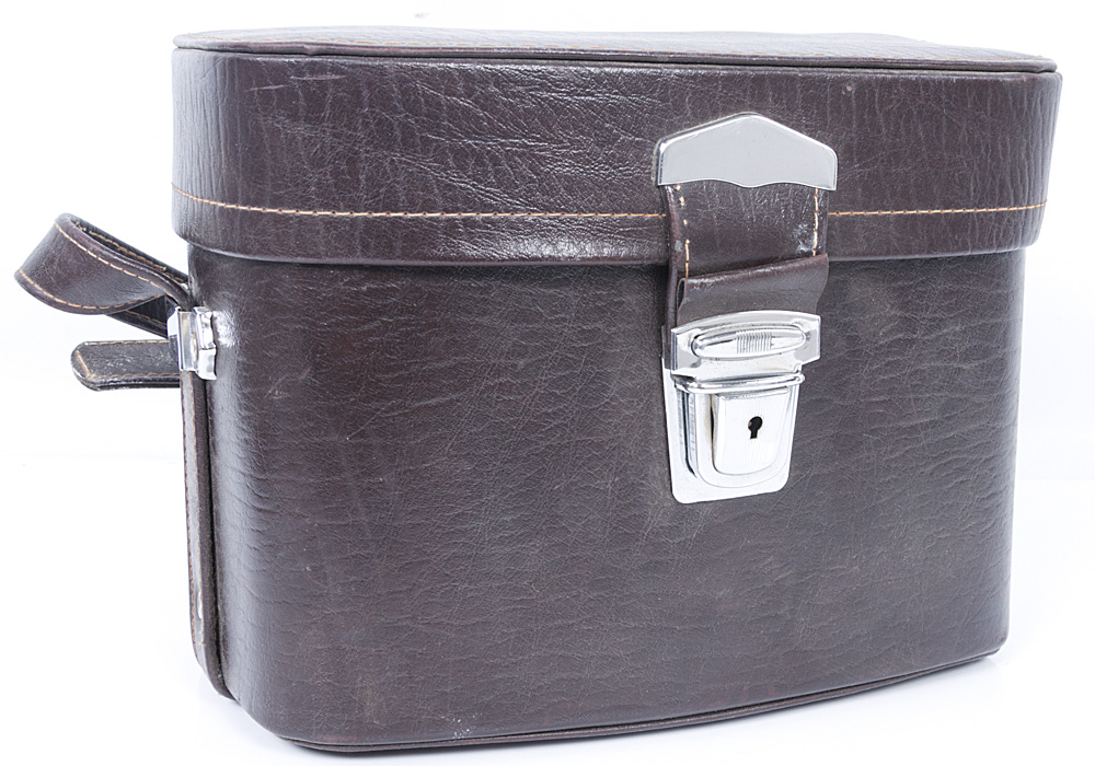 Hard Leather Effect Camera and Lens Bag - Brown