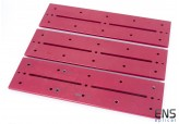 Mounting Hardware-  Large Losmandy Dovetail Bar Red