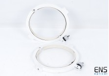 Heavy Duty 220mm CNC Telescope Tube Rings  - White