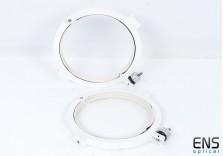Heavy Duty 220mm CNC Telescope Tube Rings  - White