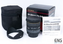 Sigma 10-20mm f/3.5-5.6 EX DC HSM Ultra wideangle zoom lens Canon AF fit 2153618