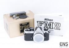 Nikon Fm2n 35mm Classic SLR Film Camera Silver Boxed Mint Unused - 8559546