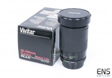 Vivitar 28-210mm f/3.5 -5.6Telephoto zoom lens Pentax PKA/R fit