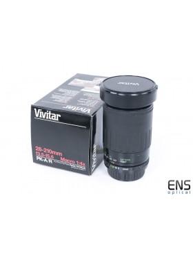Vivitar 28-210mm f/3.5 -5.6 Telephoto zoom lens Pentax PKA/R fit