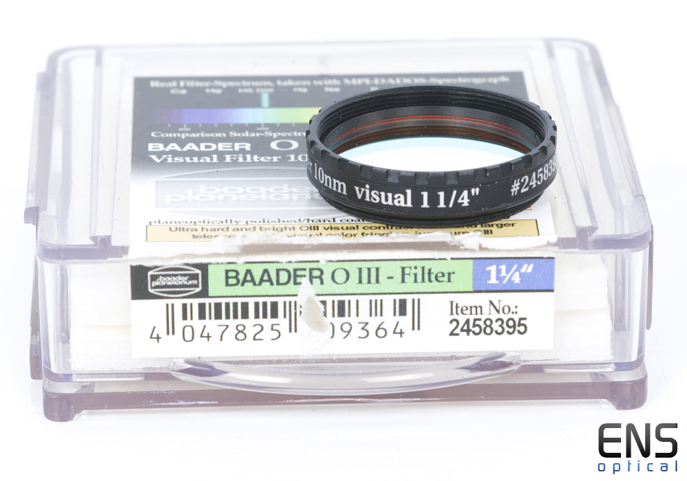 "Baader 1.25"" OIII Oxygen III 10nm Visual Filter"