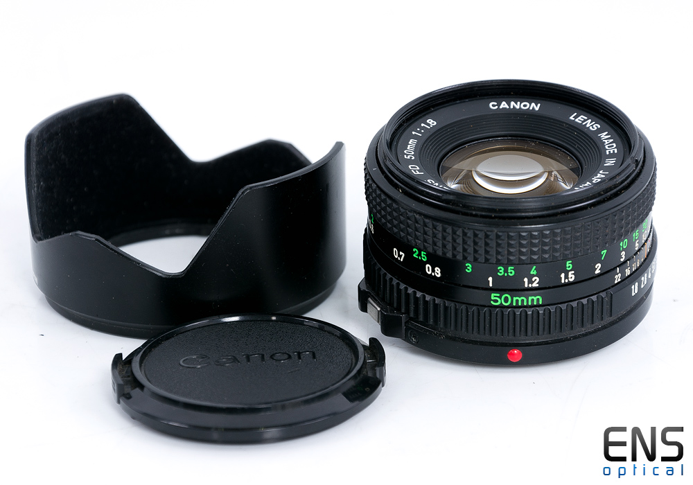 Canon 50mm f/1.8 FD Standard Prime Lens & Hood  Japan - 944023