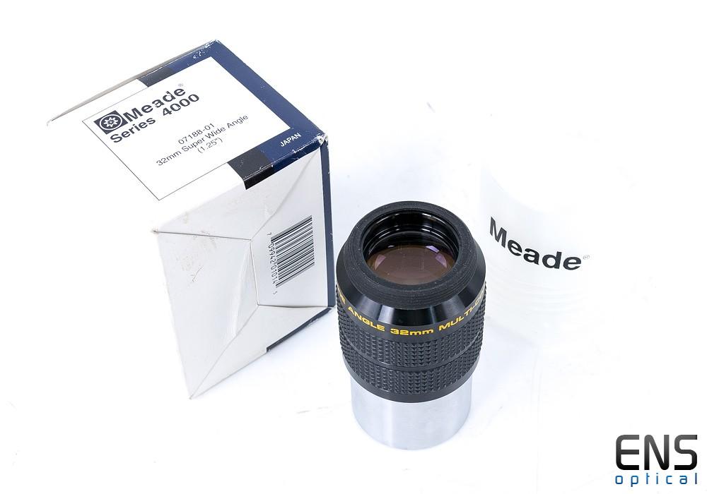 """Meade Series 4000 32mm 1.25"""" Eyepiece Super Wide Angle, Original Bolt Case & Box SWA"""