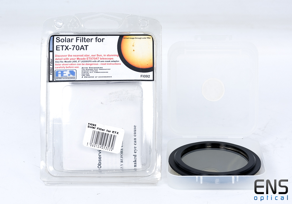 Astro Engineering Solar Filter for Meade ETX-70AT Telescope
