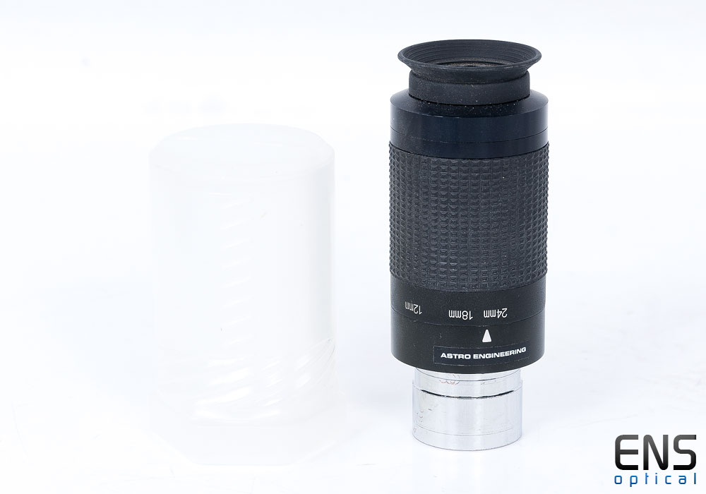 """Astro Engineering 8-24mm Zoom 1.25"""" Eyepeiece with boltcase"""