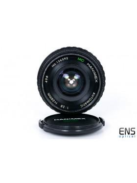 Hanimex 28mm F2.8 Automatic Lens 126392 - Minolta Fit