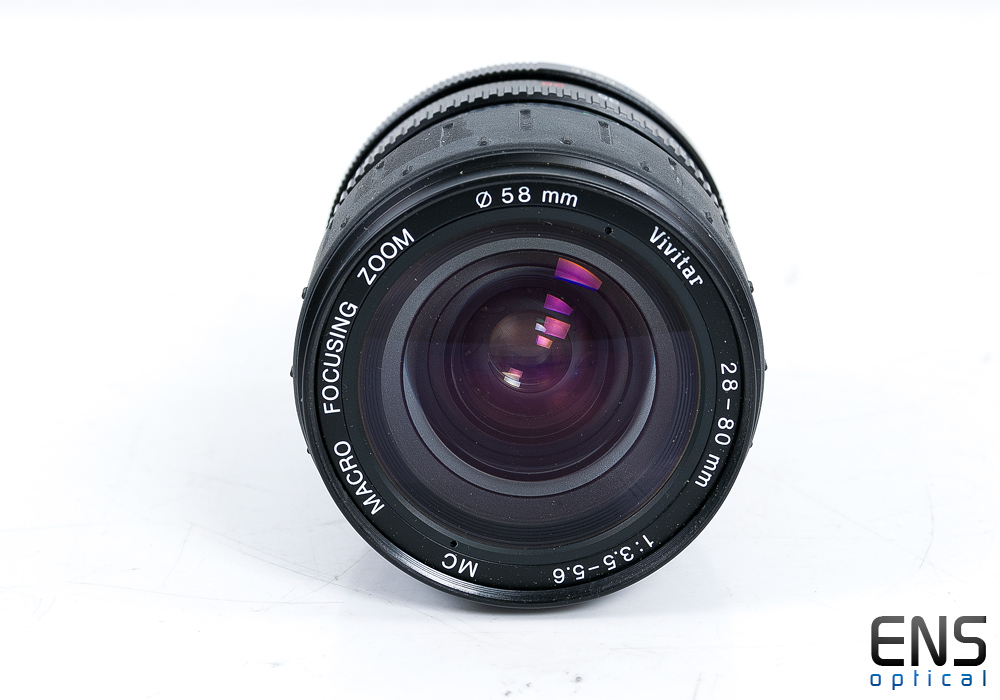 Vivitar 28-80mm f3.5-5.6 MC M42 Screwfit Macro Focusing Zoom Lens - 09730356