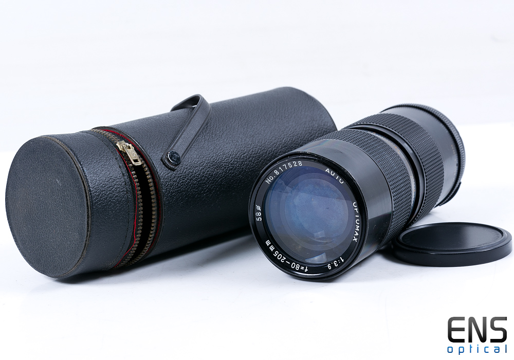 Optomax 80-205mm F/3.9 Auto Telephoto Lens - Pentax Fit - 817528 JAPAN *READ*