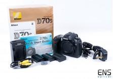 Nikon D70s Digital SLR Camera Black - Boxed + 8008453