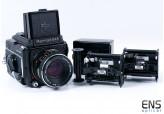Mamiya M645 Medium Format Camera w/ Sekor 80mm f/2.8 Lens & Viewer