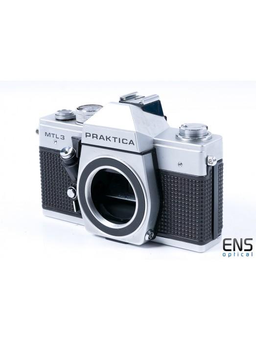 Praktica MTL 3 35mm Film SLR Camera Body Only Silver with Case