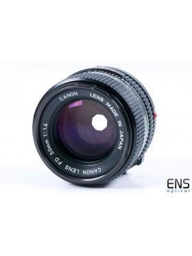 Canon 50mm f/1.4 FD Fast Prime Lens - 1166000 JAPAN
