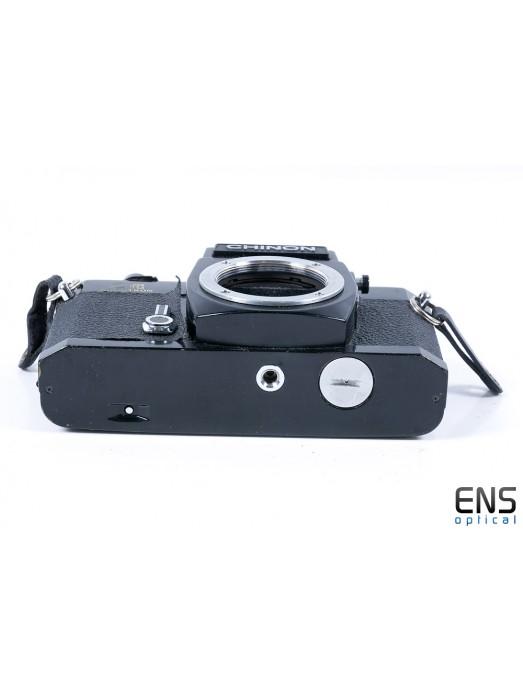 Chinon CE Memotron 35mm SLR film camera black - JAPAN