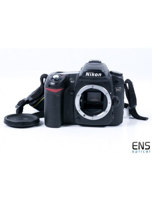 Nikon D80 DSLR Camera with two batteries