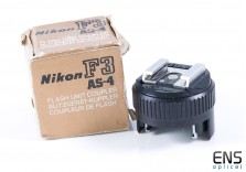 Vintage Nikon AS-4 flash coupler for F3 F3HP - Mint Boxed Japan