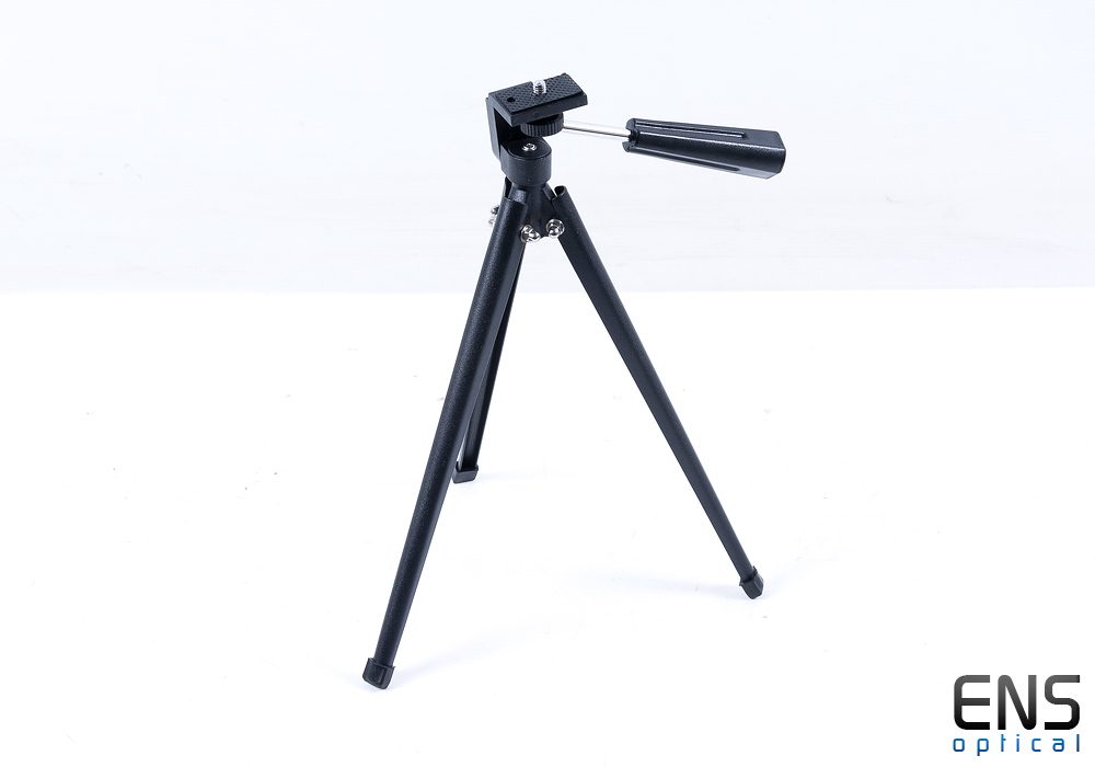 Small portable metal tripod for spotting scopes, dslr or other