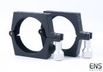 William Optics 90mm CNC Telescope Tube Mounting Rings - Black
