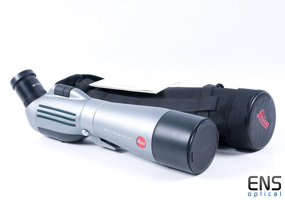Leica APO-Televid 77 Flourite spotting scope with Case & 20x Eyepiece