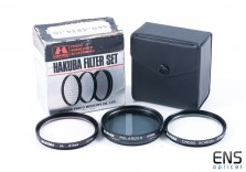 Hakuba 49mm 3 Piece Lens Filter Set - 1A Skylight - 4 Point Star - Polarizer