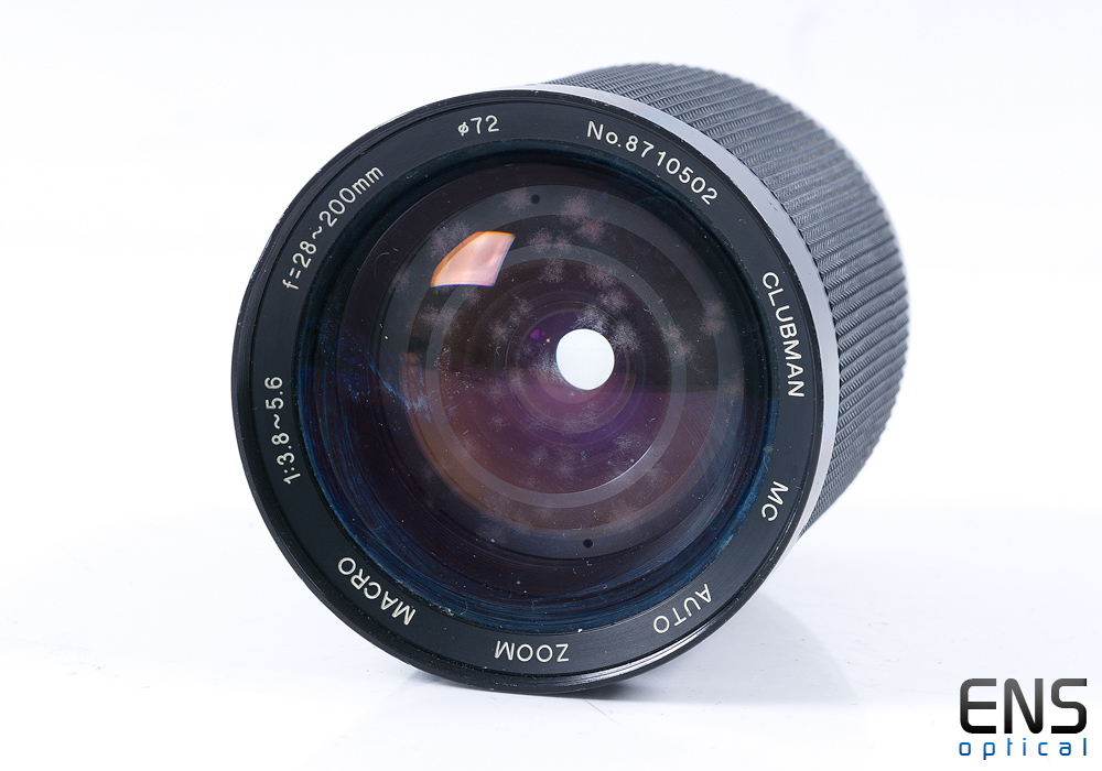 Clubman 28-200mm f/3.8-5.6 Macro Zoom Lens OM Fit- FUNGUS SPARES 8710502