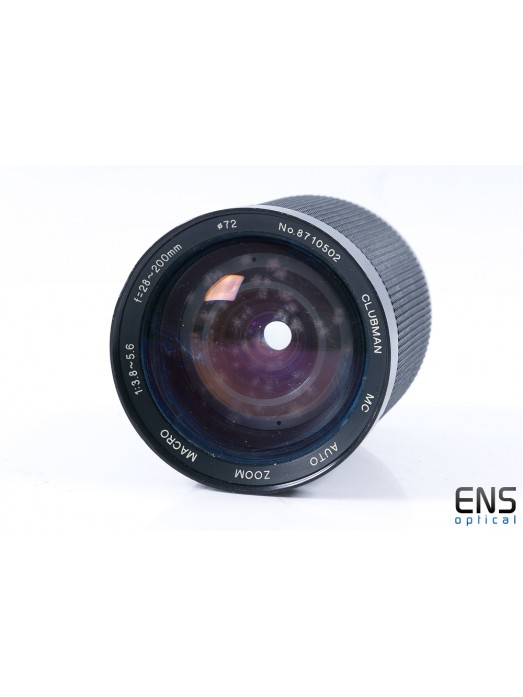 Clubman 28-200mm f/3.8-5.6 Macro Zoom Lens OM Fit- FUNGUS SPARES 8710502